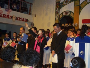 Our Christmas Eve opening prayer from 3 years ago in the Luzhou church.