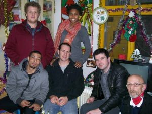 Back row, L - R:  Nathan and AshleyFront, L-R:  Vernon, John, James, and Kevin.