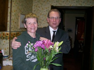 Happy Valentine's Day! My older brother, Paul, brought me flowers for Feb. 14th.  Very thoughtful!