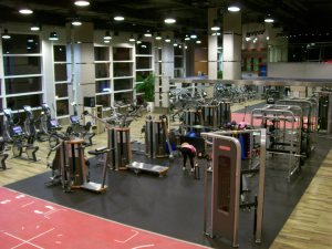 The Kerry Hotel has the largest Sports Center in the city of Shanghai.