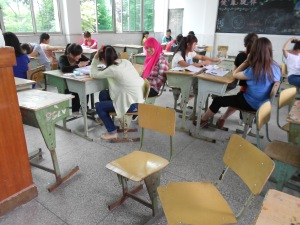 My students have to scramble to other classrooms to find decent chairs to sit in.