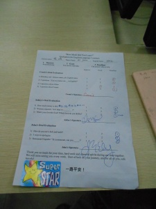 A finished evaluation: Well done!