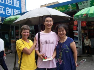 The last time I saw Jack (Cathy's son) was  in this photo, taken 4 years ago as he was about to embark on his freshman year  in Beijing.