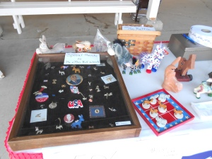 Just a few of my dad's many Democrat items put on display at the fair.