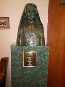 Mother Theodore Guerin, sainted a few years ago, is the founder of the college (1841).