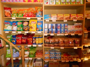 Sabrina's has a wide range of American foods, for a price.  Chips here run from $5 - 10  . . . a bag!