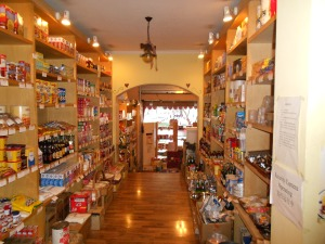 An extensive stock of American goods can be found at Sabrina's.