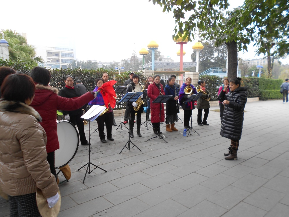 At the Park, Christians Practice for Church Performance Celebrations  (2/2)