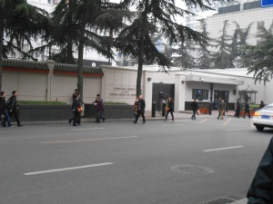 Our Chengdu US Consulate, where Mrs. Obama's reception took place.