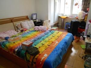 My comfy one-room rental in Chengdu.