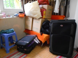 Preparing for departure: How did I get so much stuff?!