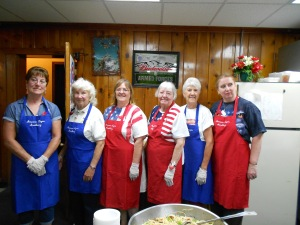 All are invited to lunch in the basement of the American Legion.  Our American Legion Auxiliary ladies are here to serve you!