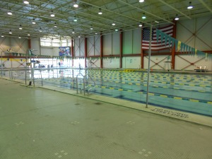 The indoor 50 meter poor, where I had my early a.m. swims.