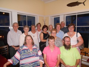 Congregation members, including the Connie Wieck circle, took me out to eat along the ocean.