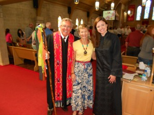As services closed on Sunday morning at Centenary UMC in Effingham,  J & L (Rev. Dr. Joe Scheets and Rev. Leanne Noland) and I managed a quick photo op.
