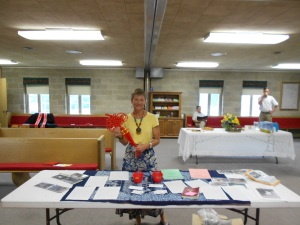 My display table follows me everywhere. Here I am at Centenary UMC, ready for visitors.