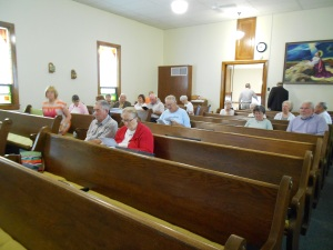 Taylor Ridge UMC prepare for Sunday worship