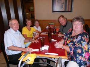 After worship, my very dear friends, the Carlsons, took me out to eat at a local restaurant.  It was wonderful to catch up after 3 years.