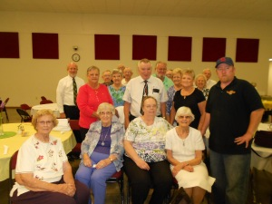 Decatur Grace UMC had a meatball luncheon after services.  Here are those who stayed for my presentation afterwards.