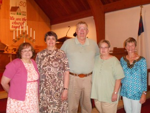 From left to right in Hillsboro:   Pastors Joy, Sue, Ralph and his wife and myself.  This picture appeared in the local paper.