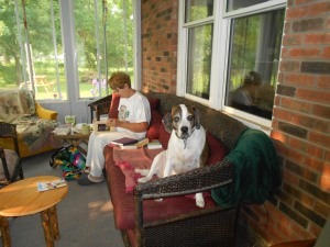 At Hillsdale, in the pastor's home (the Rutledge family), the dog rules the roost.