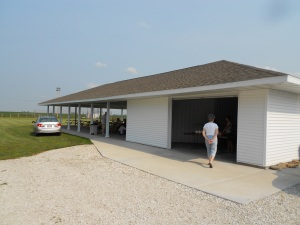 Fairview UMC, in the middle of cornfields, built this picnic shelter for special outdoor events.