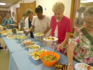 Elmwood UMW's salad luncheon, before  the program