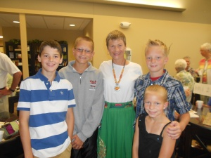 These young folk at Pekin UMC had quite a few Chinese phrases to share with me.