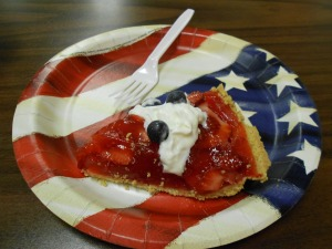 A Midwest Fourth of July goodie,  strawberry pie.  Yum!