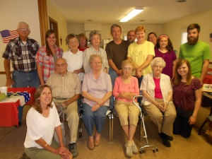 Tip-toeing to the far south:  Ware UMC's evening potluck