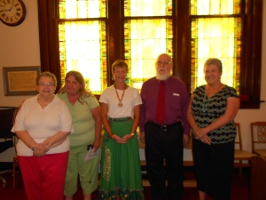 Riverton UMC with Rev. Dixon and members, before services