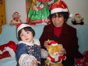 We had one grandma visit with grand-daughter.