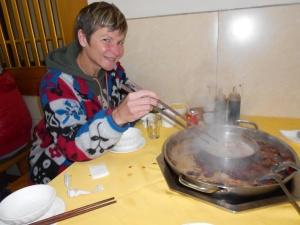 The traditional hotpot