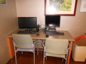 Computers with Net access  are available in the ICU family room for anyone's use