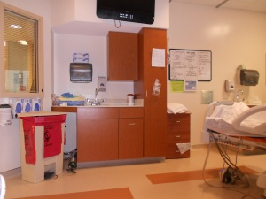 An inside view of a hospital room