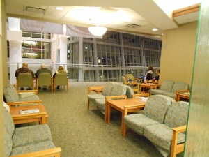 The waiting room for guests and visitors