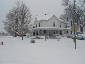 The Wieck House, covered in last week's March 1st snowfall