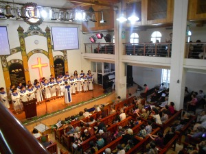 The Luzhou Protestant Church, which I attend.  Services begin at 9 a.m. for summer hours, 9:30 for winter hours, every Sunday.