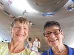 "A selfie inside ""The Bean"""