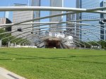 In Millennium Park, we heard a noontime orchestra rehearsal at the Jay Pritzker Pavilion