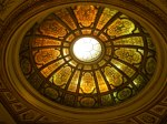 The Chicago Cultural Center, now a visitors' center, had lovely architecural touches, including this stained glass dome.