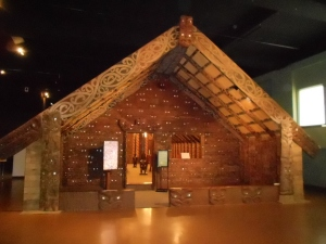 The Maori Meeting Hall: Visitors were asked to remove their shoes as a sign of respect before entering.