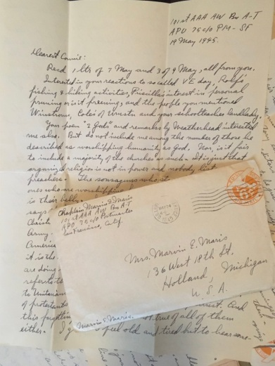 From the Philippines, Marvin replies to his wife's letters