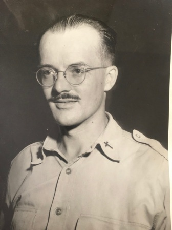 Chaplain Marvin E. Maris, during his time overseas
