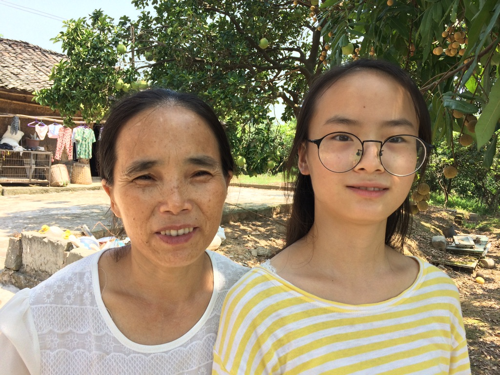 Mrs. Chen and daughter, Liangyu